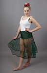 Bottle Green Petticoat Tiered