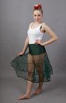 Bottle Green Petticoat Tiered