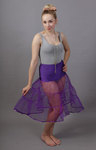 Purple Petticoat Tiered