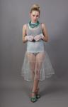 Silver Grey Petticoat Tiered
