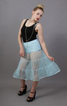 Pale Powder Blue Petticoat Tiered