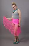 Flo Neon Pink Petticoat Tiered