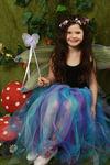 Childrens Longer Length Multi-Coloured Raggy Fairy Skirt