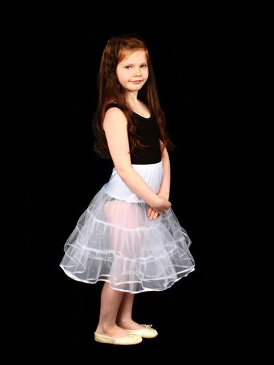 Child 2 Layered Petticoat White