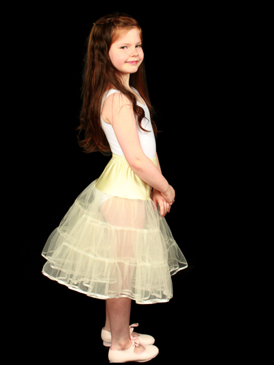 Child 3 Layered Petticoat Ivory