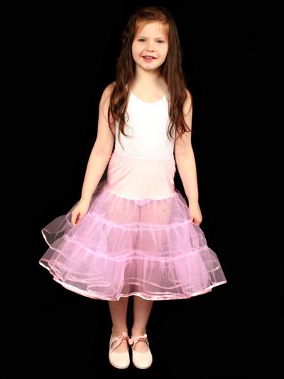 Child 4 Layered Petticoat Pink