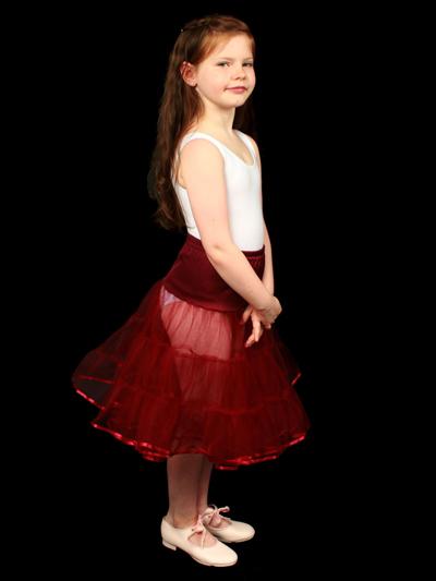 Child 3 Layered Petticoat Wine