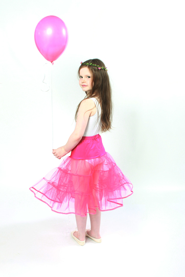 Childrens Petticoat Polka Dot Trim