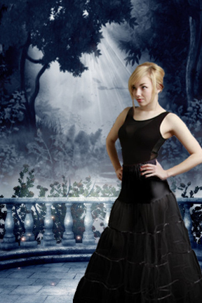 Gothic Long Black Petticoat