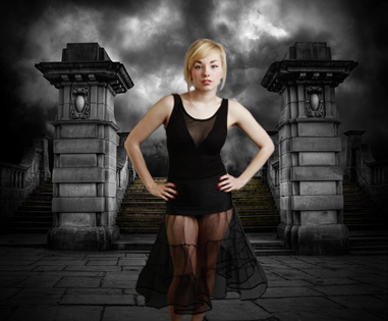 Gothic Black Petticoat