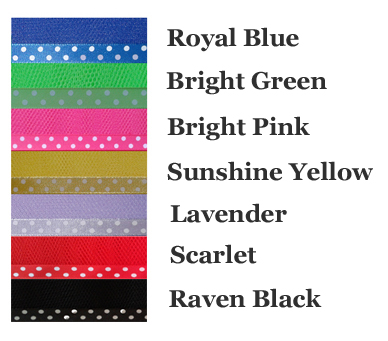 Polka Dot Trim Petticoat Colour Chart