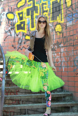 Flo Neon Green Tiered Petticoat