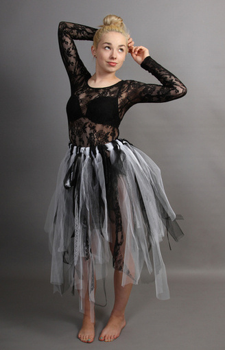 Ghost Bride Raggy Fairy Skirt