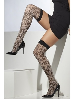 <!-- 058 -->Leopard Print Stockings