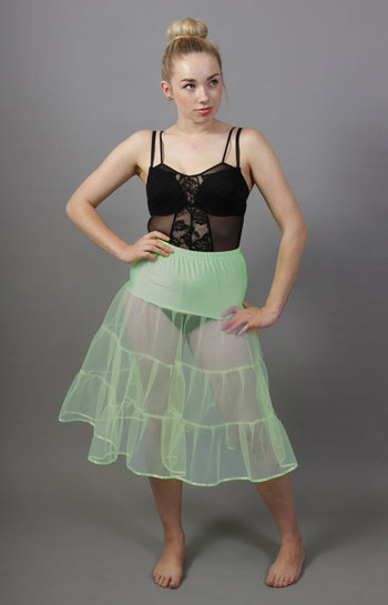 Mint Green Tiered Net Underskirt