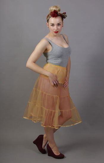Matt Gold Tiered Net Underskirt