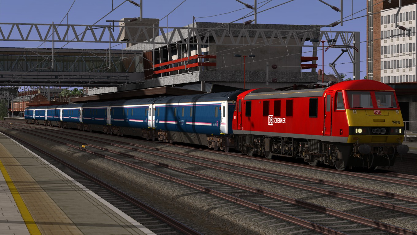Image showing screenshot taken from a free DPSimulation scenario pack for this route