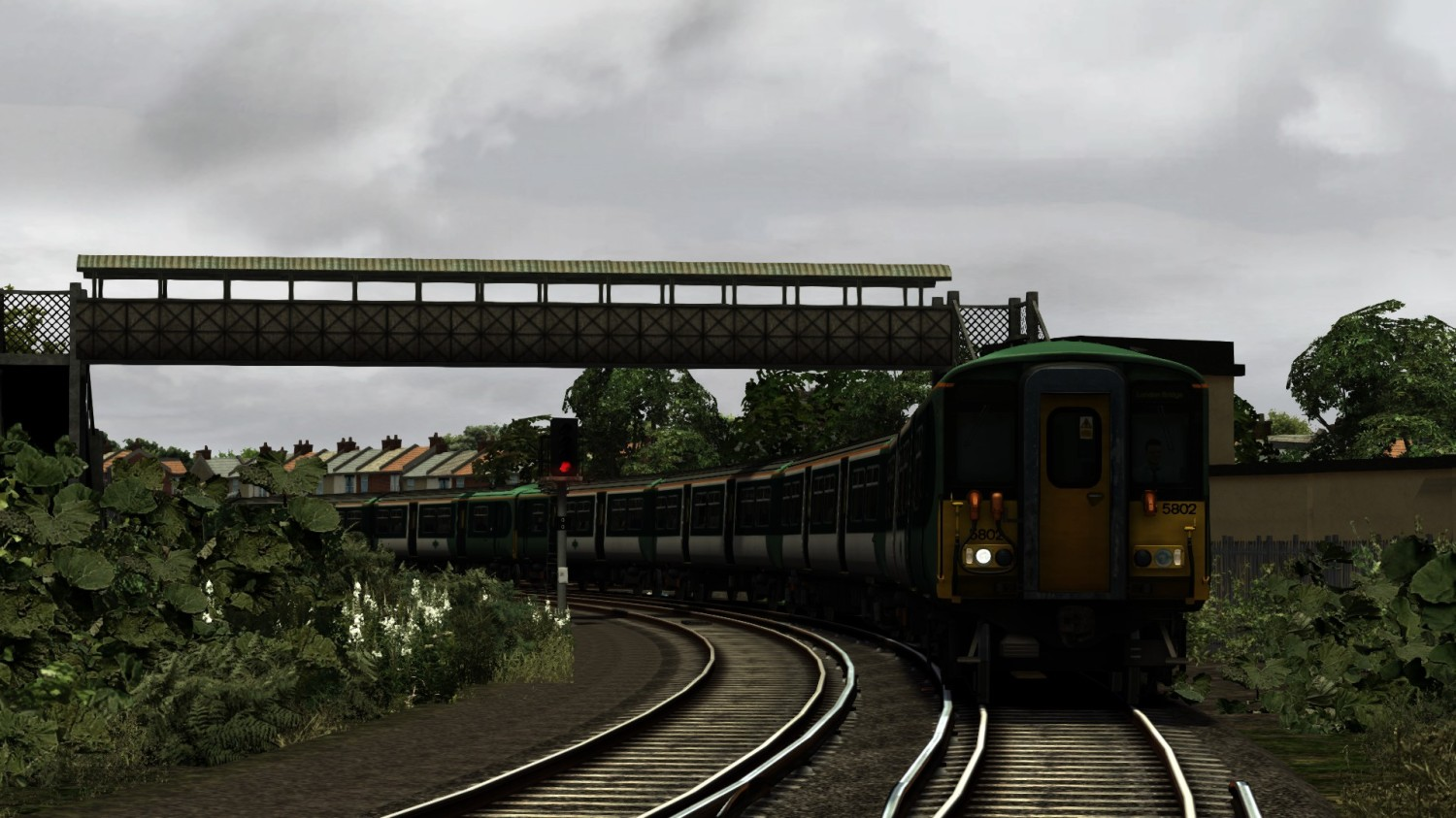 Image showing a screenshot taken on a scenario from the free South London Network scenario pack from DPSimulation