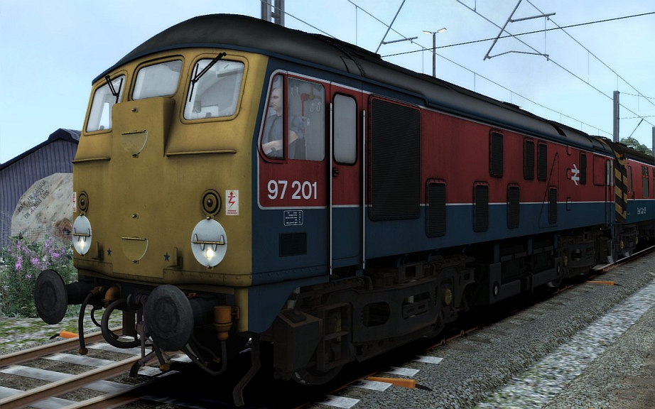 Image showing a free repaint of the Class 24 in BR Research livery
