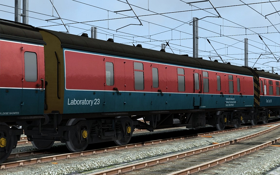 Image showing a free repaint of a coach in BR Research livery