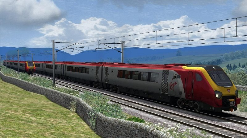 Image showing the free Virgin Trains repaint of the CrossCountry Class 220 'Voyager' DEMU Add-On DLC