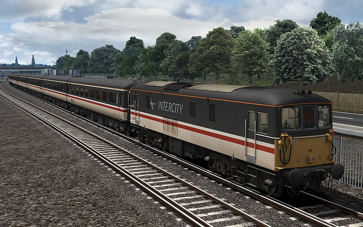 Image showing the Intercity Swallow repaint of the Class 73 locomotive