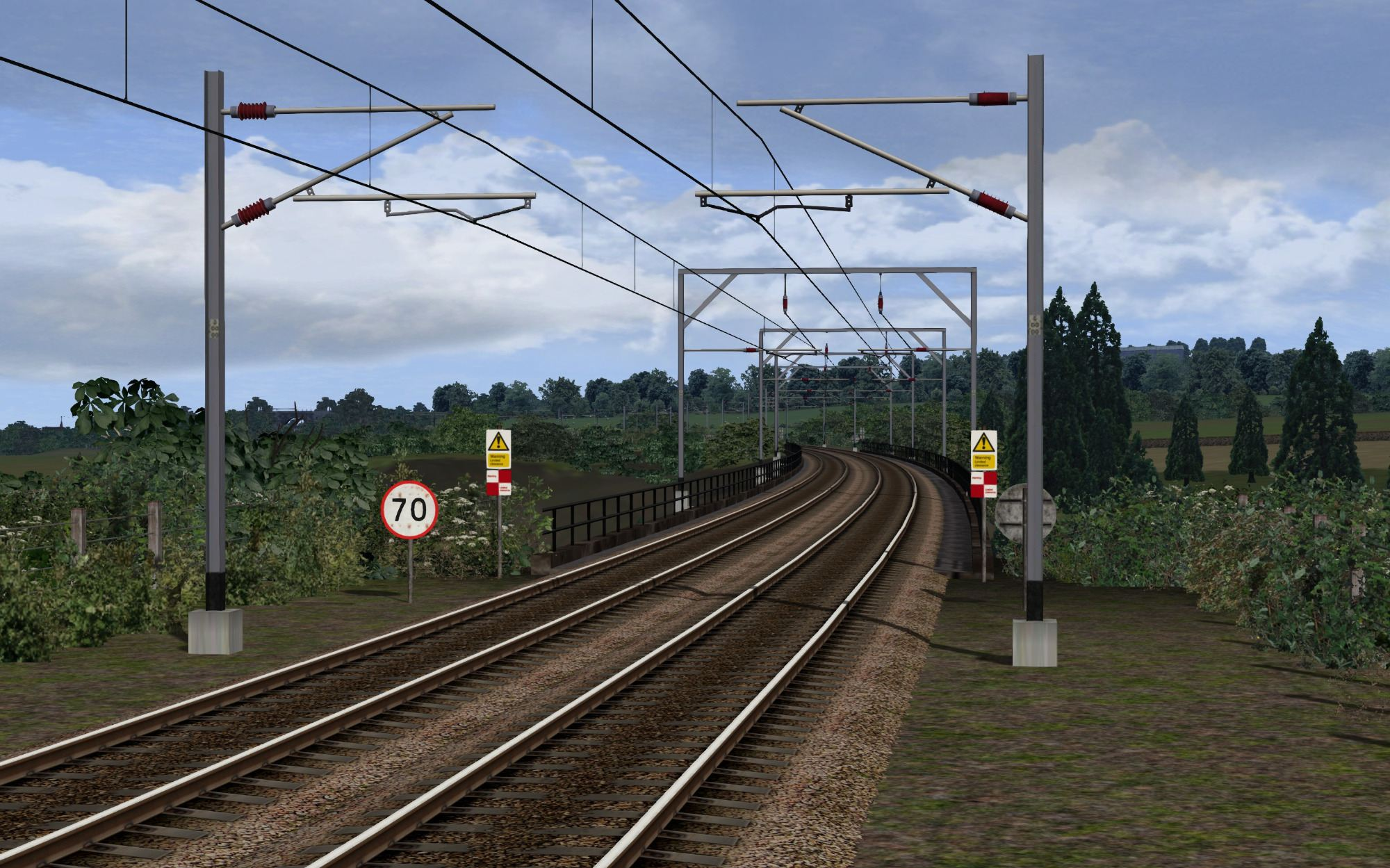 Image showing screenshot of the free Carstairs extension of this route, available here at DPSimulation