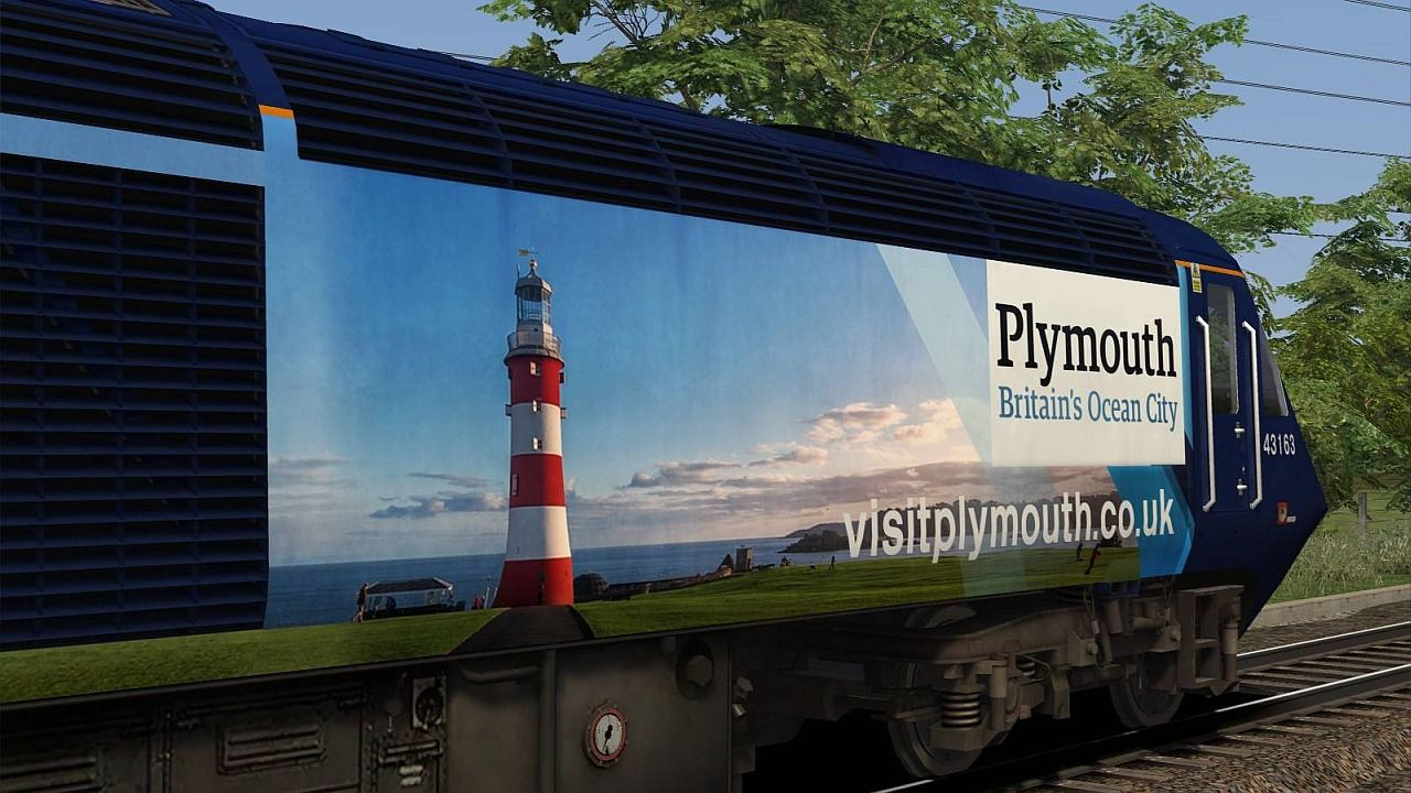 Image showing Class 43 'Plymouth - Britain's Ocean City' 43163.