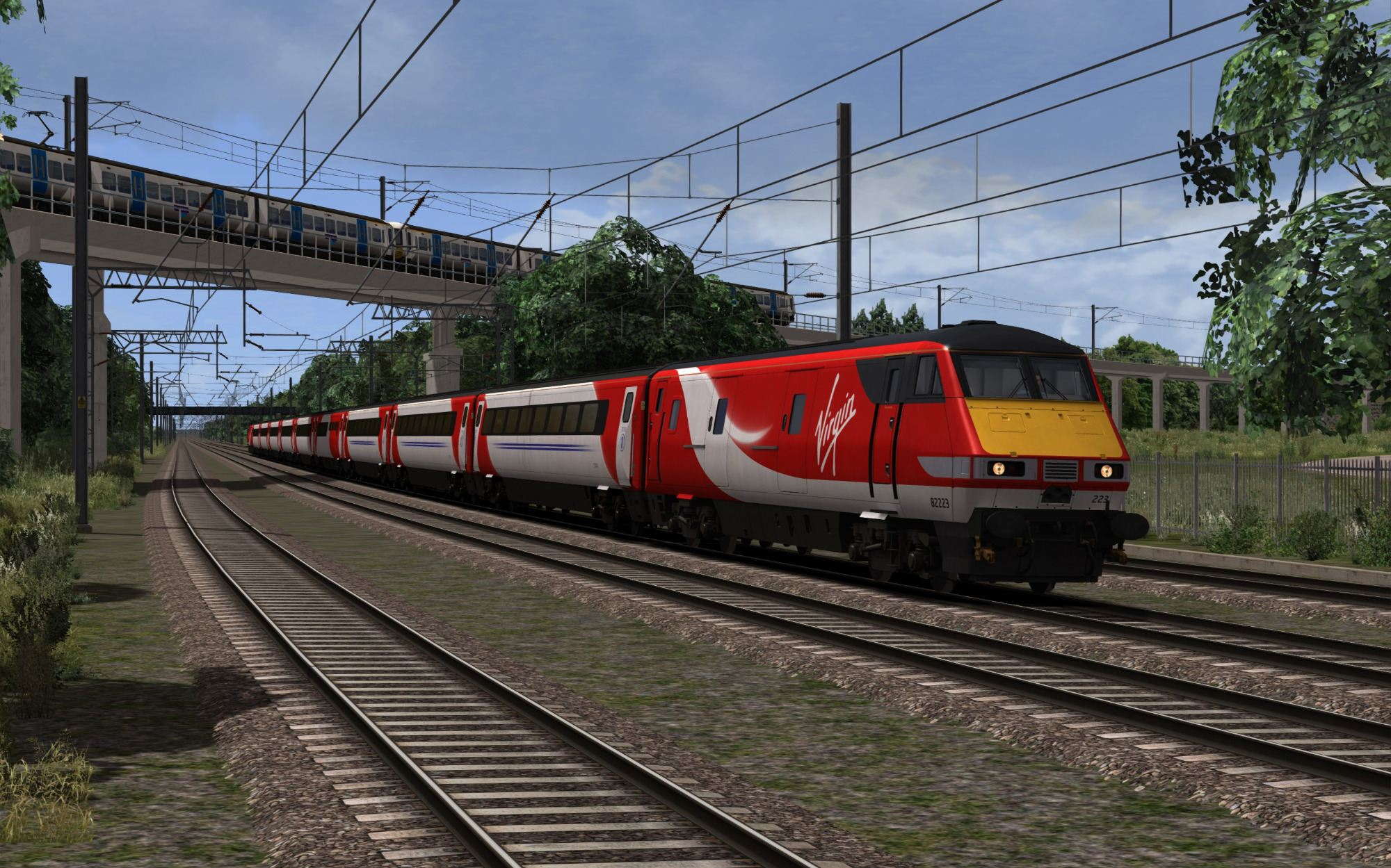 Image showing screenshot of the free ECML South: Royston Extension route from DPSimulation