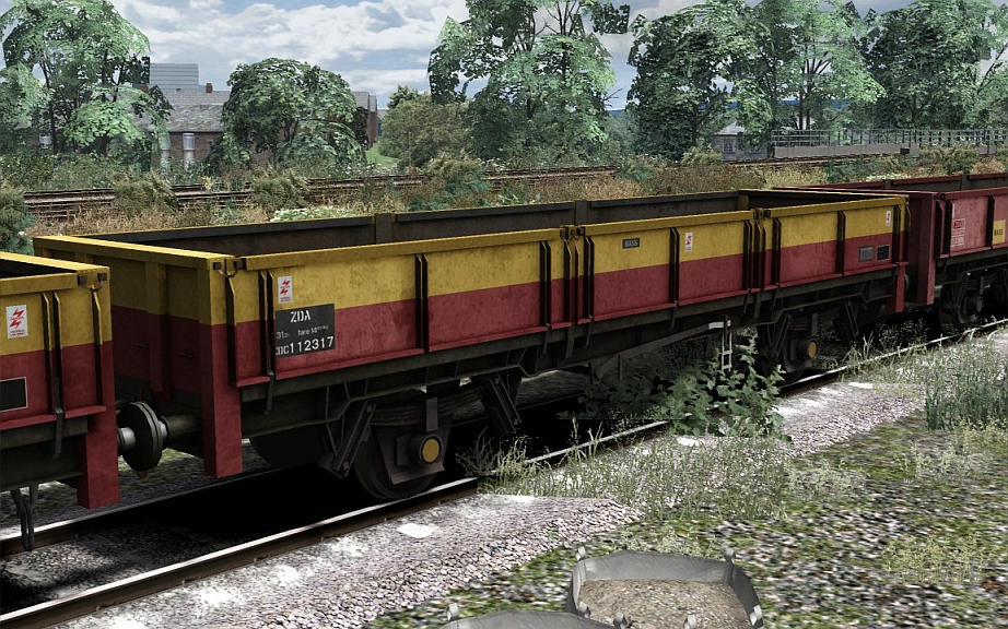 Image showing screenshot of a free repaint of rolling stock that is included with the EWS & Freightliner Class 08s Loco Add-On DLC