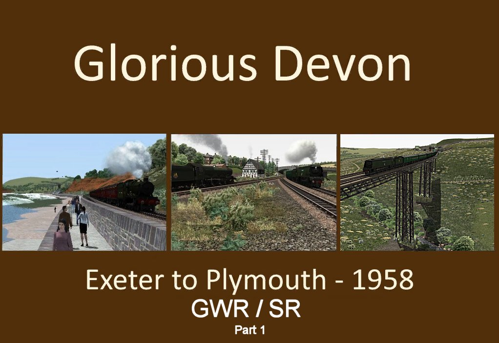 Image showing the route logo for Glorious Devon 1958.