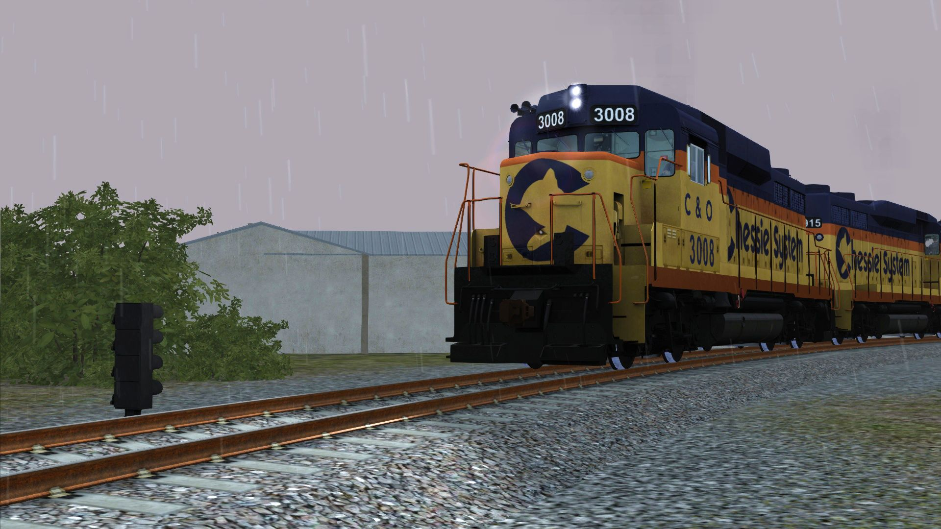 Image showing the Chessie Systems livery pack for the GP30 locomotive from the TS Marketplace