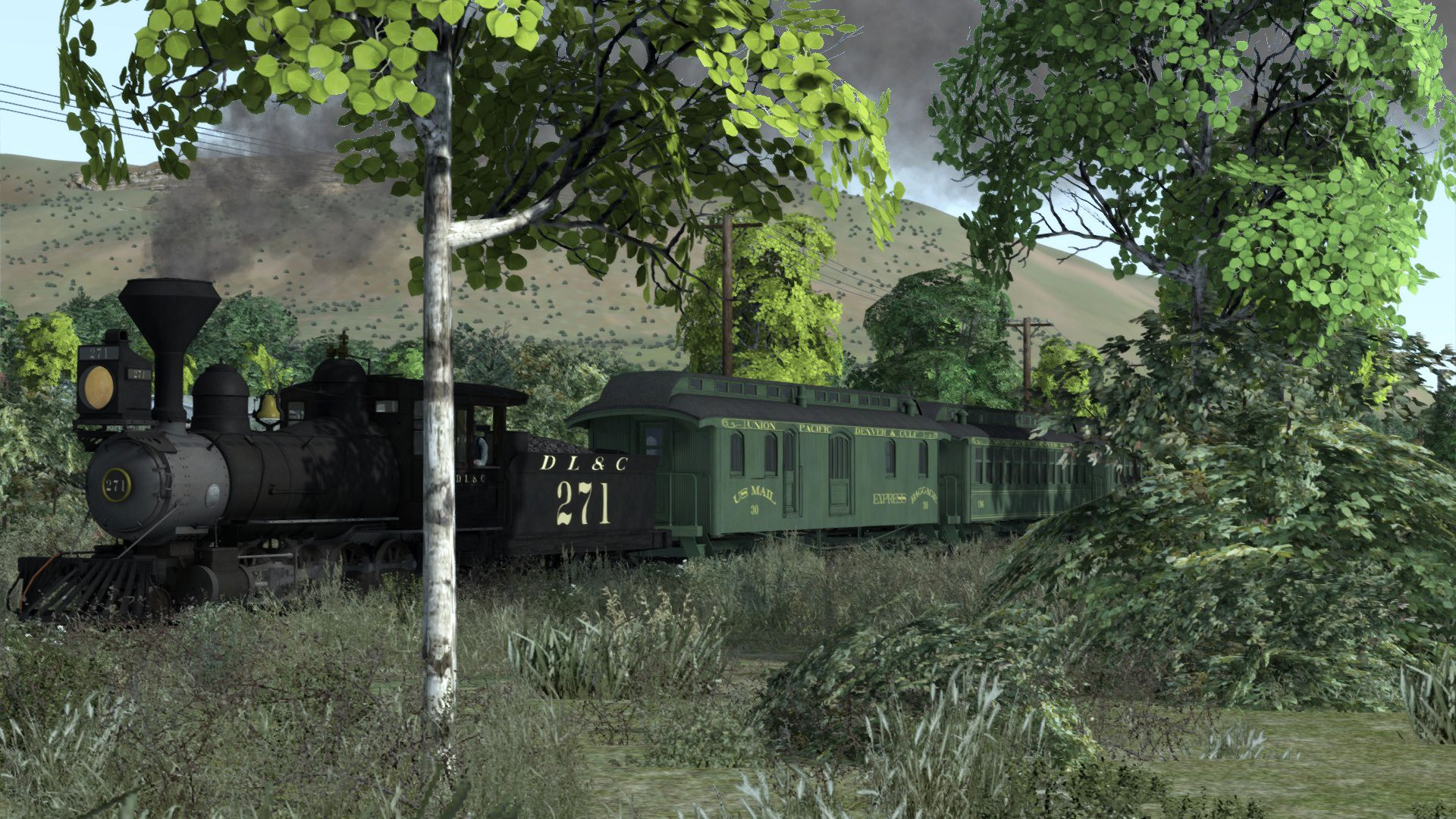Image showing screenshot from one of the Clear Creak Narrow Gauge Expansion Packs