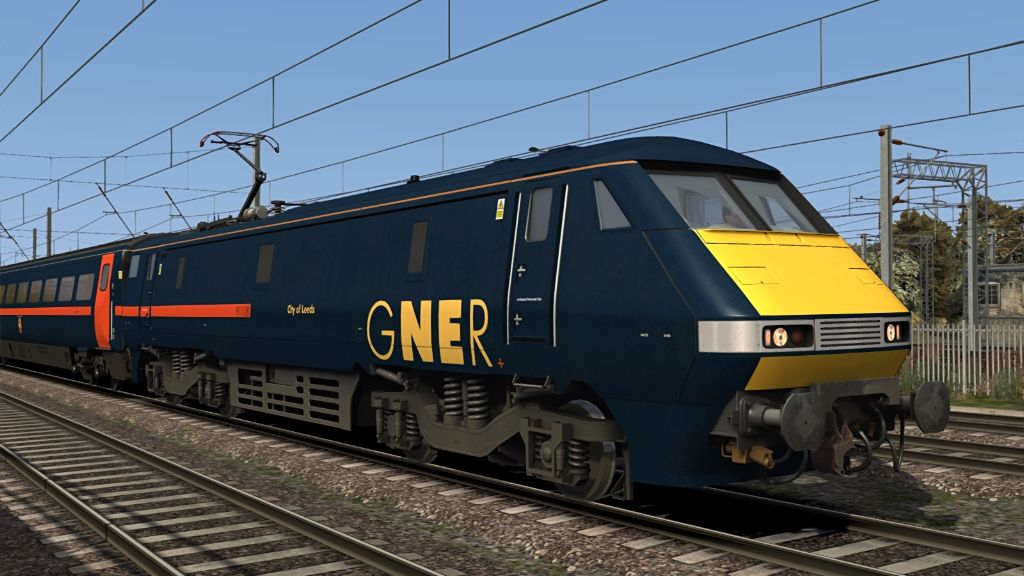 Image showing screenshot of one of the liveries featured in the Armstrong Powerhouse Class 91/Mk4 Enhancement Pack