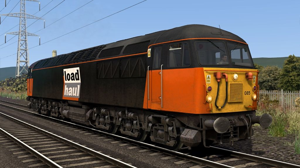 Image showing screenshot of a Class 56 locomotive as seen in the Armstrong Powerhouse Class 56 Enhancement Pack