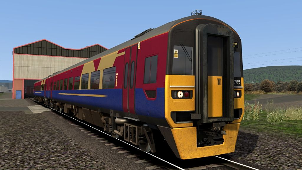 Image showing screenshot of one of the liveries featured in the Armstrong Powerhouse Class 158 Enhancement Pack