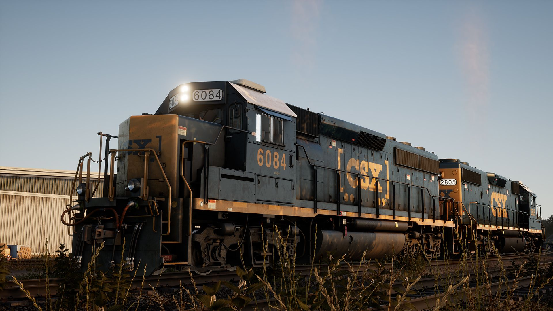 Image showing a screenshot of the GP40-2 locomotive in Train Sim World