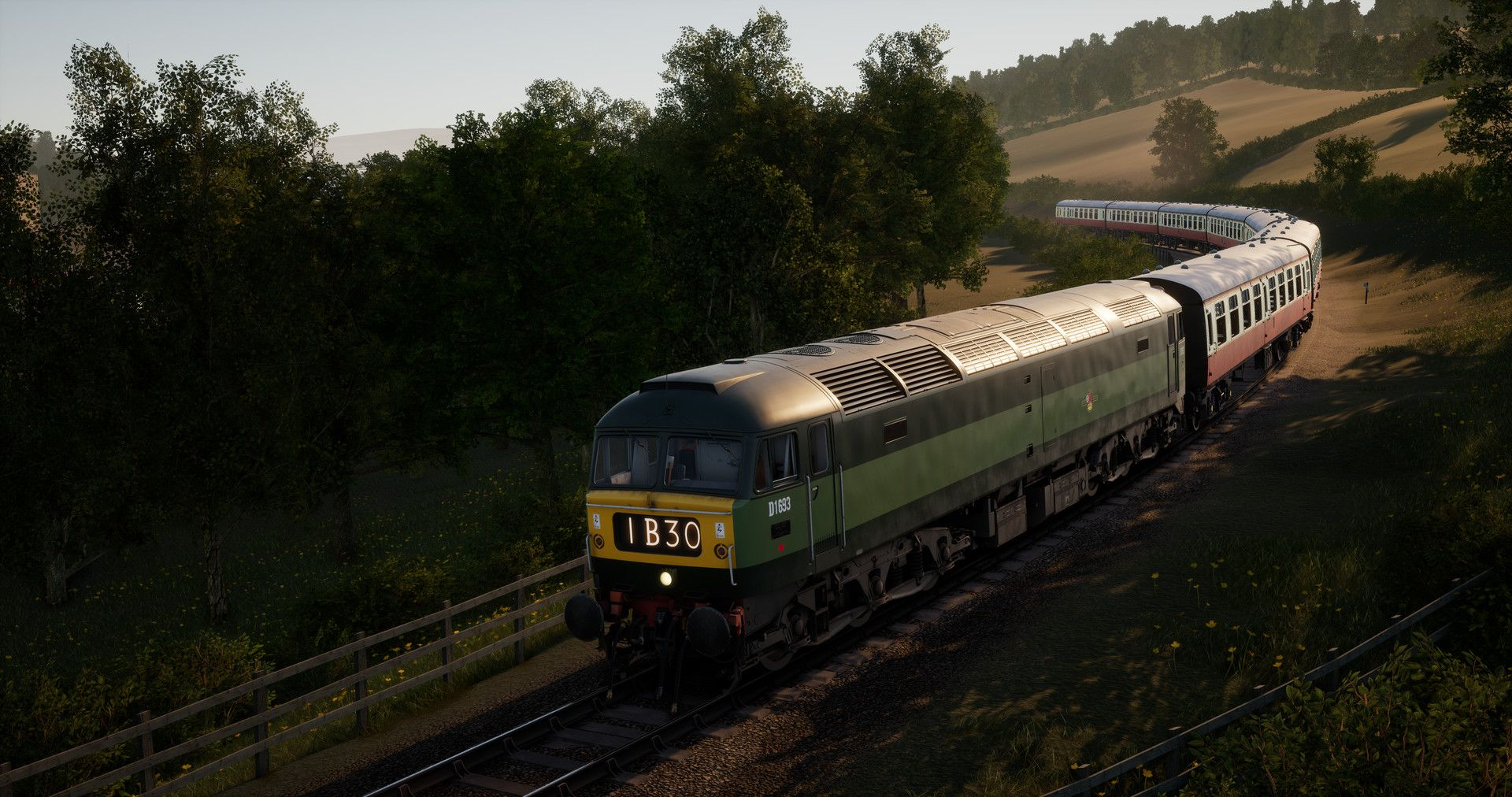 Image showing screenshot of the West Somerset Railway route for Train Sim World