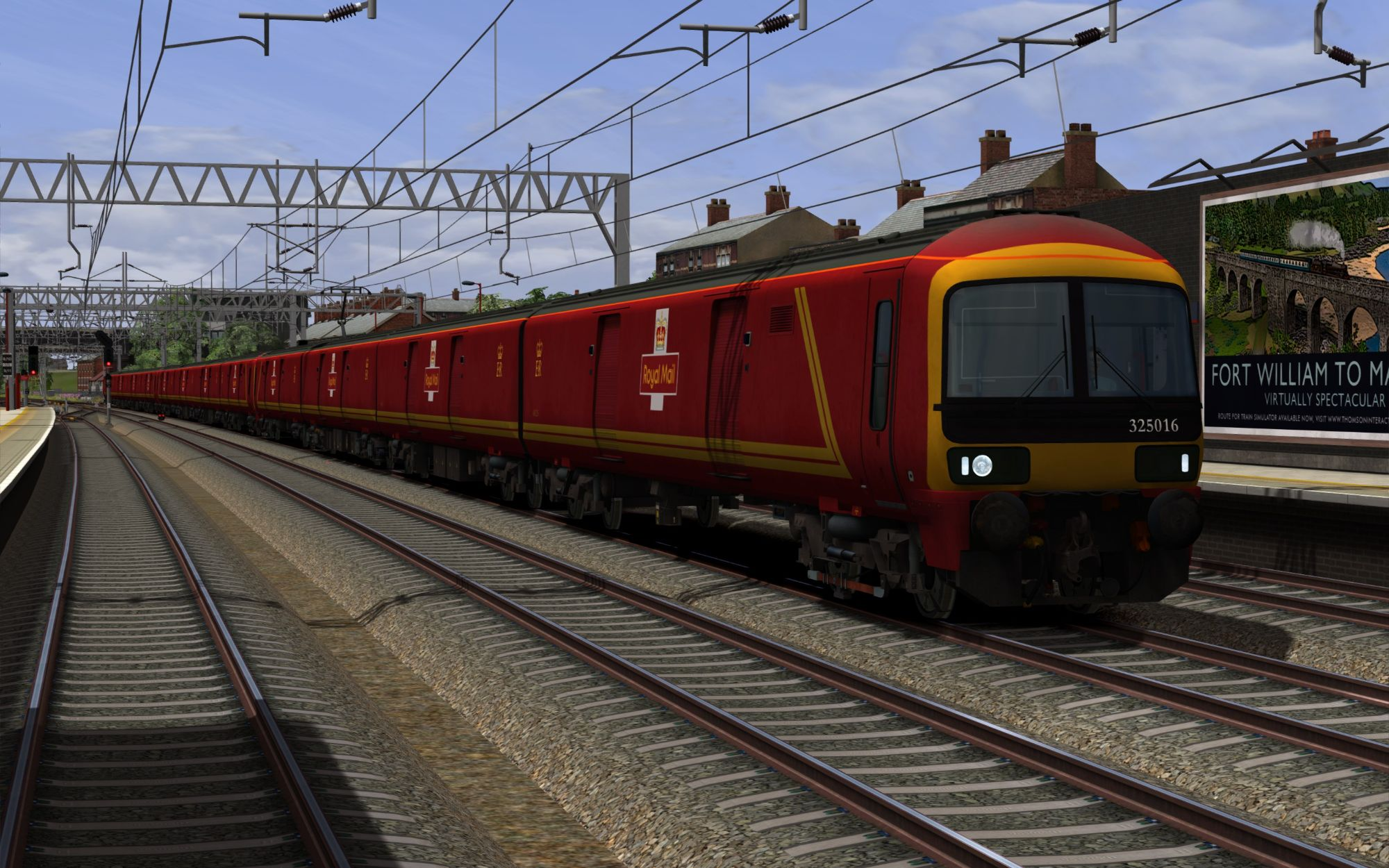 Image showing a screenshot of the Class 325 EMU with the DPSimulation branding pack applied