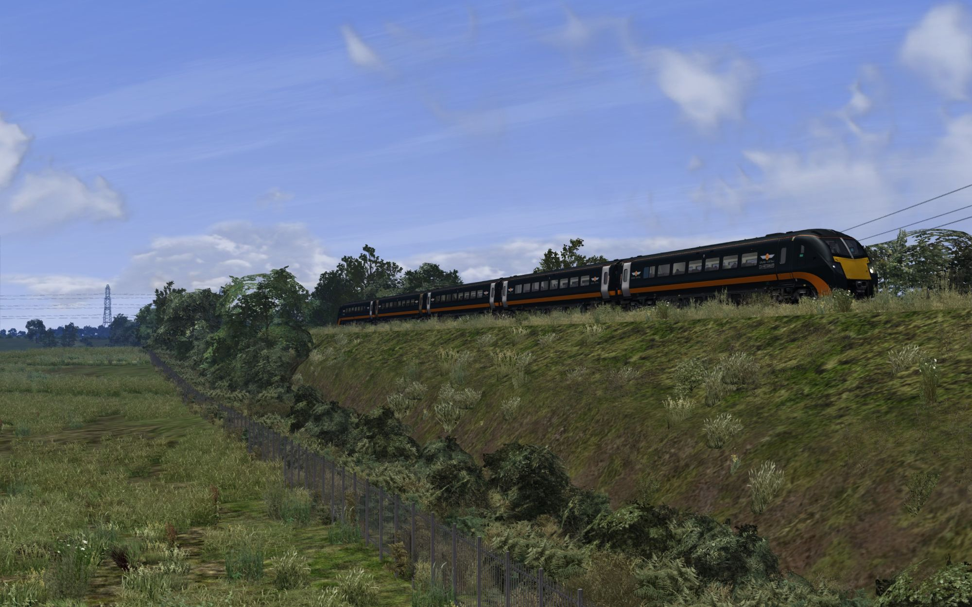 Image showing a screenshot of the all new North East England route from DPSimulation
