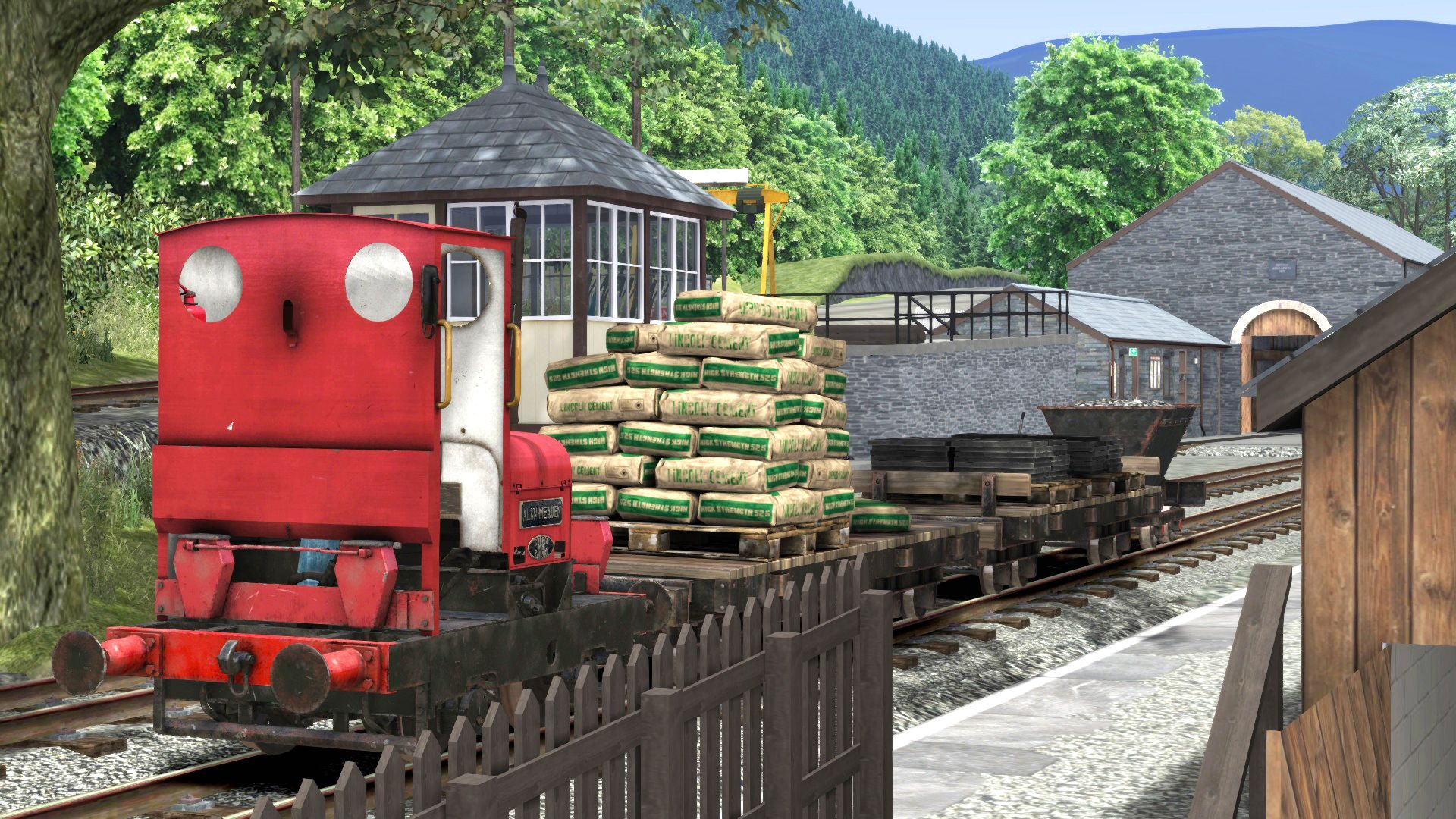 Image showing a locomotive from the Corris Railway Expansion Pack