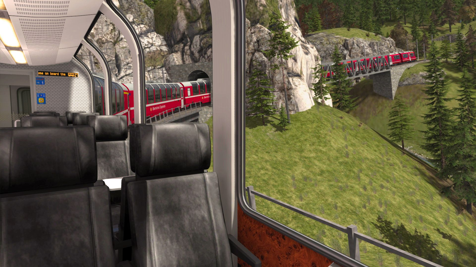 Image showing the Albula Line and Bernina Pass route that is available on the Steam Workshop