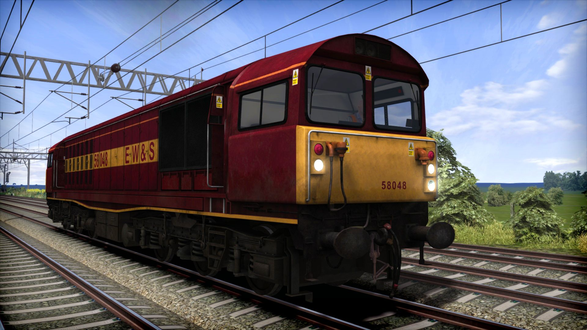 Image showing the EWS liveried Class 58 locomotive available from the TS Marketplace