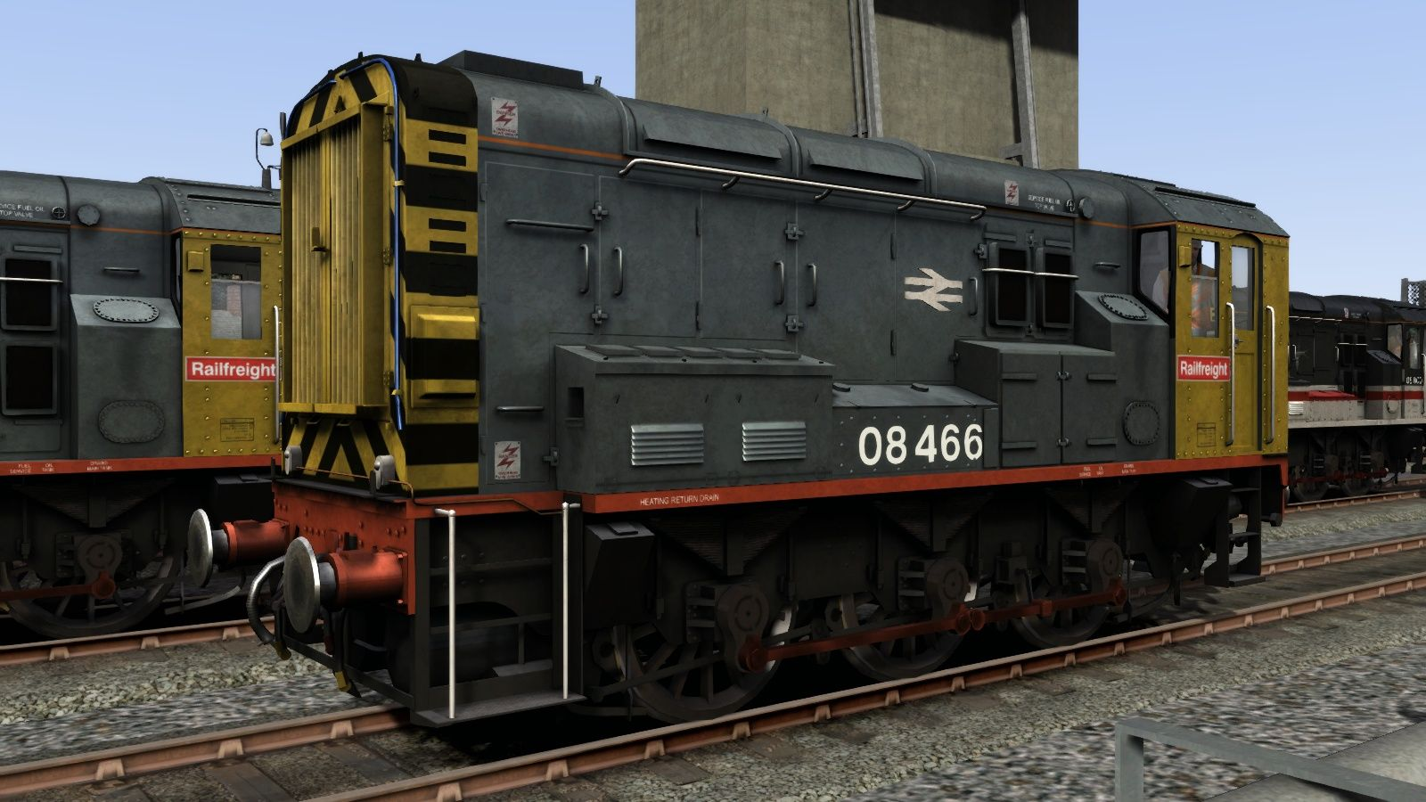 Image showing screenshot of the Railfreight liveried Class 08 pack from the TS Marketplace