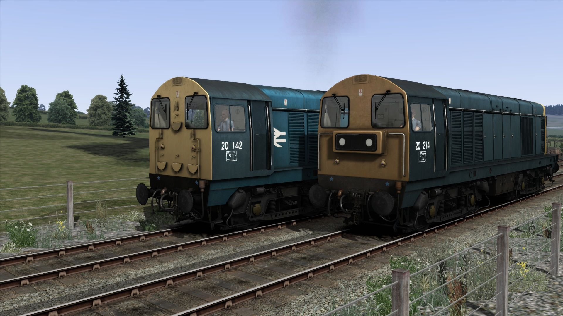 Image showing screenshot of the BR Blue liveried Class 20 pack from the TS Marketplace