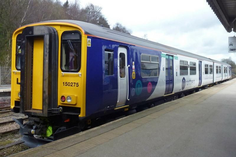 Northern class 150 DMU at station platform