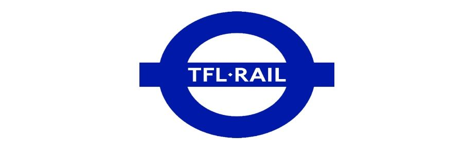 Image showing the Transport for London Rail (TFL Rail) logo.