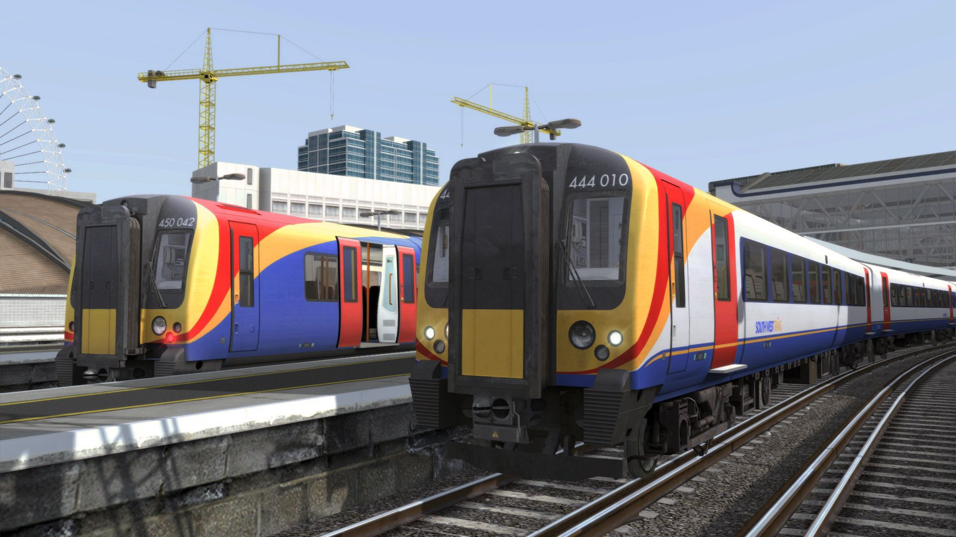 Image showing screenshot of the Class 444 in the Portsmouth Direct Line: London Waterloo - Portsmouth route