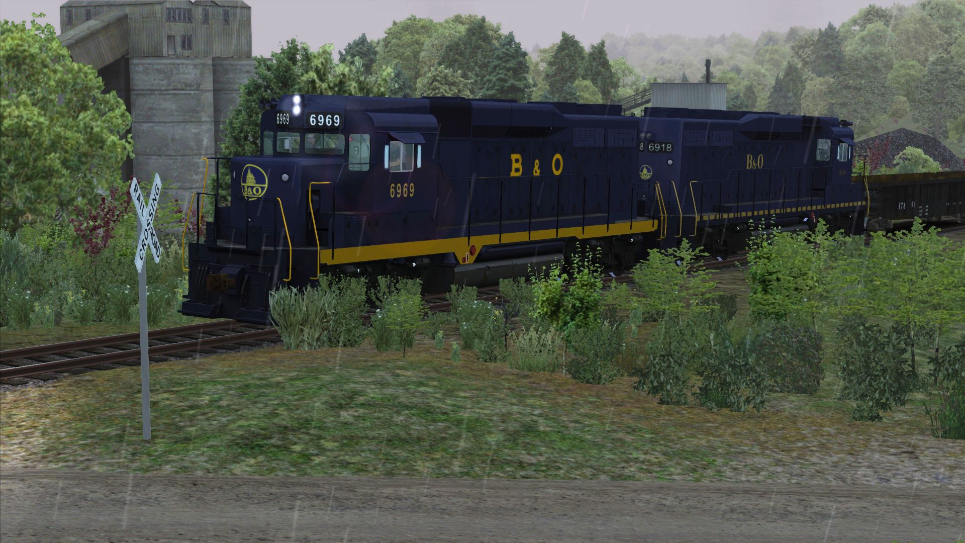 Image showing the Baltimore & Ohio livery pack for the GP30 locomotive from the TS Marketplace