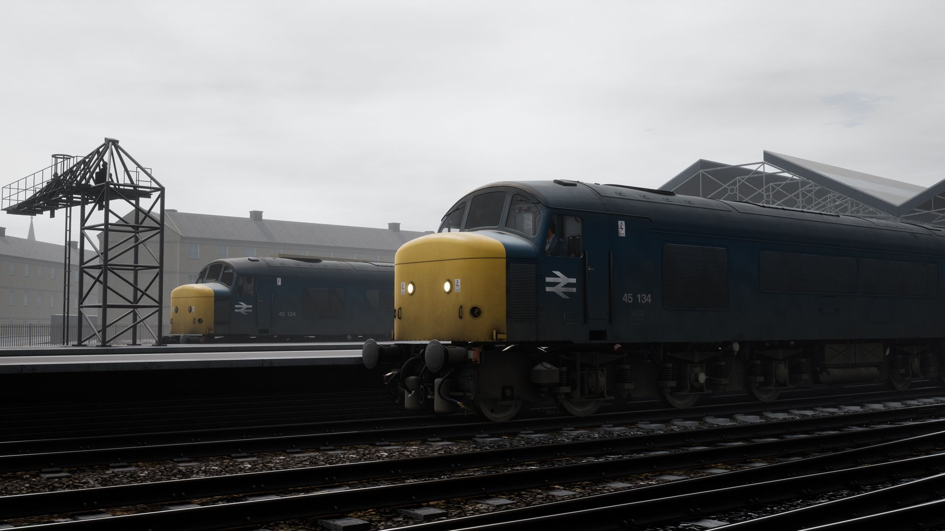 Image showing screenshot of Class 45 locomotive in Train Sim World